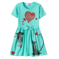 """12-37200-1 """"Mirror"""" Платье для девочки, 3-7 лет, ментол"""