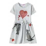 "12-37200-2 ""Mirror"" Платье для девочки, 3-7 лет, меланж"