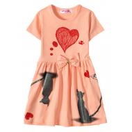 """12-37200-3 """"Mirror"""" Платье для девочки, 3-7 лет, коралл"""