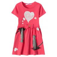 """12-37200-4 """"Mirror"""" Платье для девочки, 3-7 лет, фуксия"""