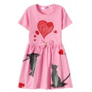 """12-37200-5 """"Mirror"""" Платье для девочки, 3-7 лет, розовый"""