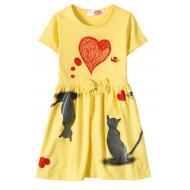 """12-37200-6 """"Mirror"""" Платье для девочки, 3-7 лет, жёлтый"""