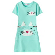 12-37201-3 Платье для девочки, 3-7 лет, ментол