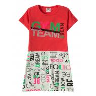 """12-3793-3 """"Gym team"""" Платье для девочки, 3-7 лет, красный"""