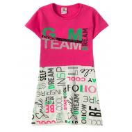"""12-3793-6 """"Gym team"""" Платье для девочки, 3-7 лет, фуксия"""