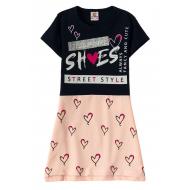 """12-3794-1 """"She's"""" Платье для девочки, 3-7 лет, т.синий"""