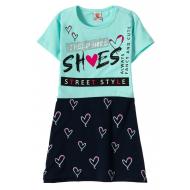 """12-3794-2 """"She's"""" Платье для девочки, 3-7 лет, ментол"""