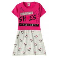 "12-3794-4 ""She's"" Платье для девочки, 3-7 лет, фуксия"