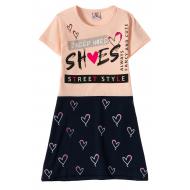 """12-3794-6 """"She's"""" Платье для девочки, 3-7 лет, коралл"""
