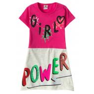 """12-3795-2 """"Girl"""" Платье для девочки, 3-7 лет, фуксия"""