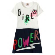 """12-3795-3 """"Girl"""" Платье для девочки, 3-7 лет, белый"""