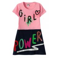 """12-3795-4 """"Girl"""" Платье для девочки, 3-7 лет, розовый"""