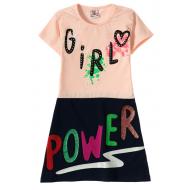 """12-3795-6 """"Girl"""" Платье для девочки, 3-7 лет, коралл"""