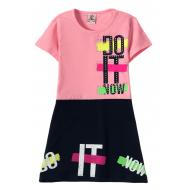 """12-3796-1 """"Do It"""" Платье для девочки, 3-7 лет, розовый"""