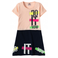 """12-3796-2 """"Do It"""" Платье для девочки, 3-7 лет, коралл"""