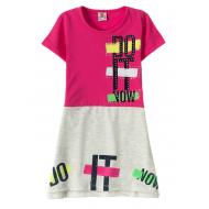 """12-3796-3 """"Do It"""" Платье для девочки, 3-7 лет, фуксия"""