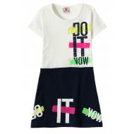 """12-3796-4 """"Do It"""" Платье для девочки, 3-7 лет, белый"""