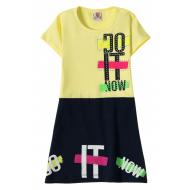 """12-3796-5 """"Do It"""" Платье для девочки, 3-7 лет, жёлтый"""