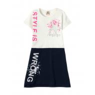 12-3790-1 Платье для девочки, 3-7 лет, белый