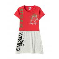 12-3790-2 Платье для девочки, 3-7 лет, красный