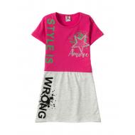 12-3790-4 Платье для девочки, 3-7 лет, малиновый
