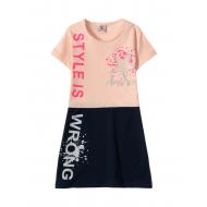 12-3790-5 Платье для девочки, 3-7 лет, ч.роза