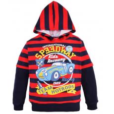 14-581107 Толстовка с капюшоном для мальчика, 5-8 лет, синий