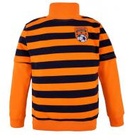 14-581315 Водолазка в полоску для мальчика, 5-8 лет, оранжевый