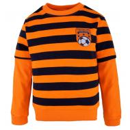 14-581317 Джемпер в полоску для мальчика, 5-8 лет, оранжевый