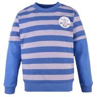 14-581321 Джемпер в полоску для мальчика, 5-8 лет, голубой