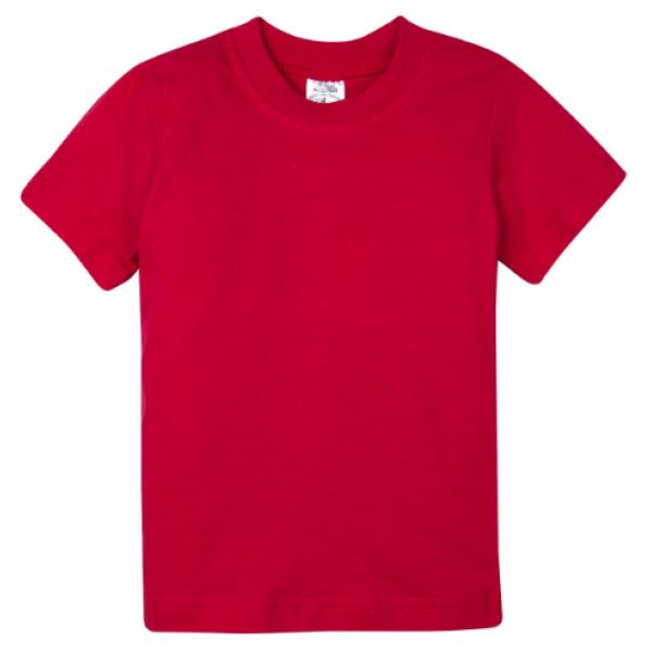 15-14003020 футболка однотонная 1-4 года, красный