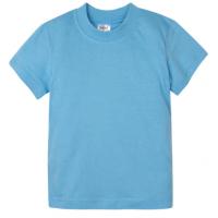 15-14005024 футболка однотонная 1-4 года, голубой