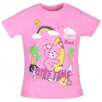 """15-140252 """"SurfTime"""" Футболка для девочки, 1-4 года, розовый"""