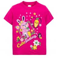 "15-140253 ""Cute Bunny"" Футболка, 1-4 года, фуксия"