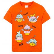 """15-140254 """"Sweets"""" Футболка для девочки, 1-4 года, оранжевый"""