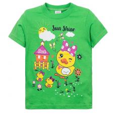 """15-140255 """"SunShine"""" Футболка для девочки, 1-4 года, салатовый"""