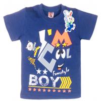 "15-140147 ""Boy"" Футболка для мальчика, 1-4 года, синий"