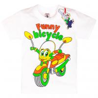 "15-140148 ""Bicycle"" Футболка для мальчика, 1-4 года, белый"