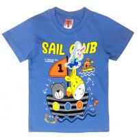 "15-140149 ""Sail Club"" Футболка для мальчика, 1-4 года, голубой"