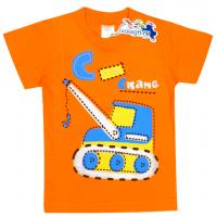 """15-140151 """"Crane"""" Футболка для мальчика, 1-4 года, оранжевый"""