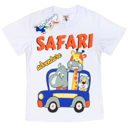 "15-140153 ""Safari"" Футболка для мальчика, 1-4 года, белый"