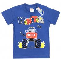 "15-140154 ""Monster"" Футболка для мальчика, 1-4 года, синий"