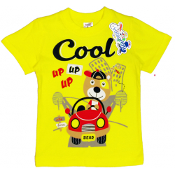 "15-140155 ""Cool"" Футболка для мальчика, 1-4 года, желтый"