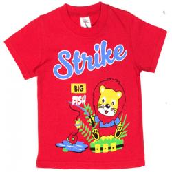 "15-140156 ""Strike"" Футболка для мальчика, 1-4 года, красный"