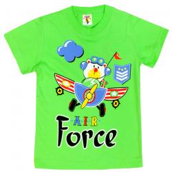 "15-140158 ""Air Force"" Футболка для мальчика, 1-4 года, салатовый"