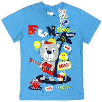 "15-140159 ""Fun Time"" Футболка для мальчика, 1-4 года, голубой"