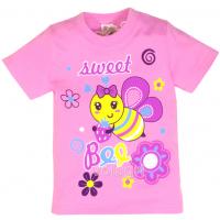 "15-140232 ""Sweet"" Футболка для девочки, 1-4 года, розовый"