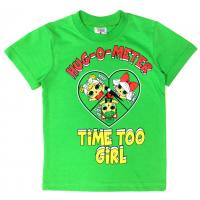 15-140234 Футболка для девочки, 1-4 года, зеленый