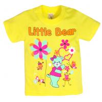 "15-140235 ""Little Bear"" Футболка для девочки, 1-4 года, желтый"