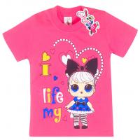 """15-140242  """"LOL Life"""" Футболка для девочки, 1-4 года, розовый"""